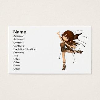 Cute Toon Autumn Fairy Business Card