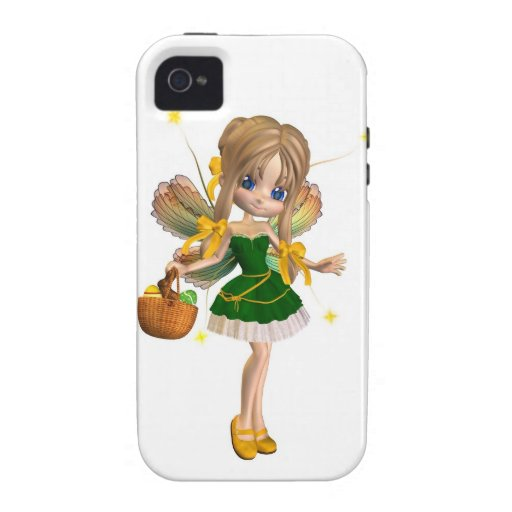 Cute Toon Easter Fairy - 1 iPhone 4 Covers