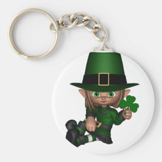 Cute Toon Irish Leprechaun - 1 Keychain