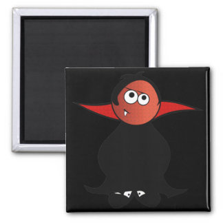 CUTE TOOTH PATCHY VAMPIRE DRACULA SQUARE MAGNET