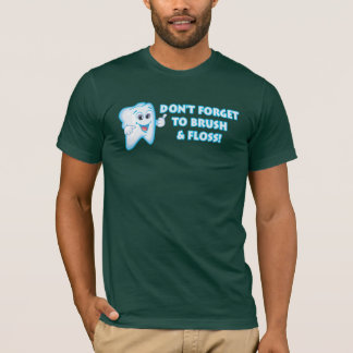 Cute Tooth Reminder Brush & Floss T-Shirt