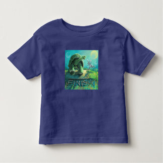 Cute Tortoise and the Hare Art Toddler T-shirt