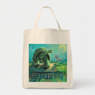 Cute Tortoise and the Hare Art Tote Bag