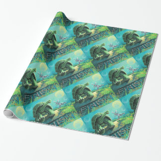 Cute Tortoise and the Hare Art Wrapping Paper