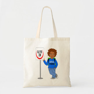 cute tote bag cartoon boy local hero