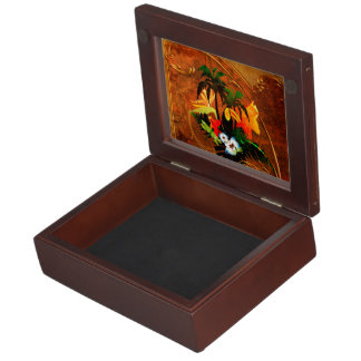Cute toucan with flowers keepsake boxes