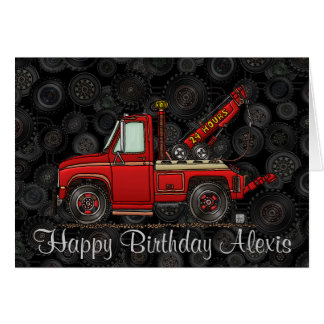 Cute Tow Truck Wrecker Card