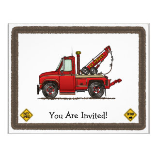 Cute Tow Truck Wrecker Custom Announcement