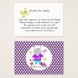 Cute Toy Baby Bunny Rabbit Baby Book Request Business Card