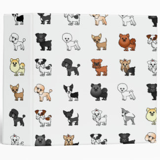 Cute Toy Dog Lover Binder 2""