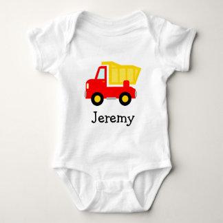 Cute toy dump truck cartoon baby jumpsuit for boys baby bodysuit