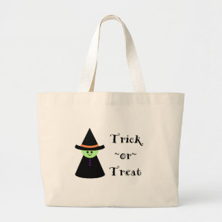 Cute Toy Witch Halloween Trick Or Treat Tote Bag