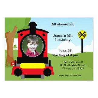 Cute train birthday cards