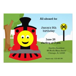 Cute train birthday card