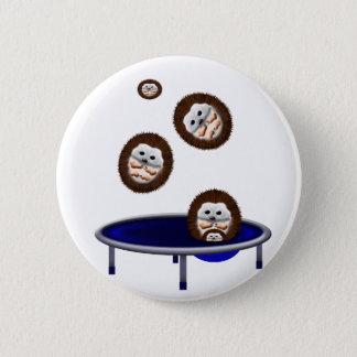 cute trampolining hedgehogs 2 inch round button