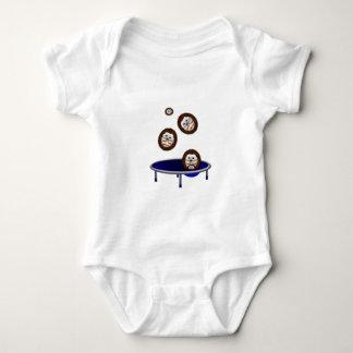 cute trampolining hedgehogs baby bodysuit