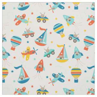 Cute Transportation Baby Nursery Fabric