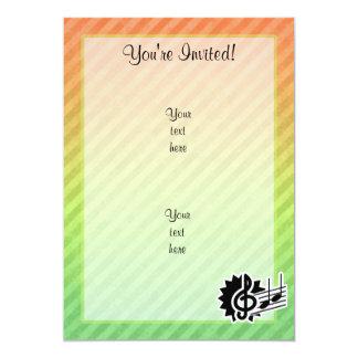 """Cute Treble Clef 5"""" X 7"""" Invitation Card"""