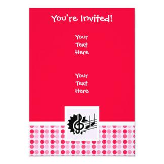 Cute Treble Clef 5x7 Paper Invitation Card