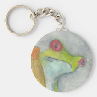 Cute Tree Frog Basic Round Button Keychain