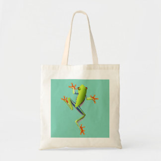 Cute Tree Frog Budget Tote Bag