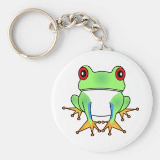 Cute Tree Frog Cartoon Keychain