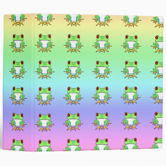 Cute Tree Frogs School / Photo Rainbow Binder