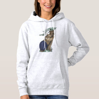 Cute Tree Hugger Bear With Leggings Outdoor Design Hoodie