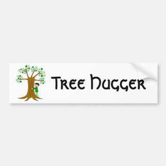 Cute Tree Hugger Design Bumper Stickers