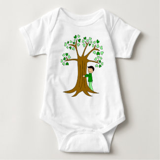 Cute Tree Hugger Design Tee Shirt