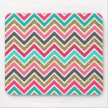 Cute trendy chevron faux glitter zigzag pattern