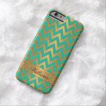 Cute trendy chevron zigzag faux gold glitter