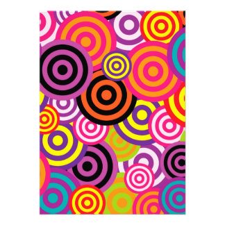 Cute trendy colorful circles pattern abstract announcement
