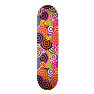 Cute trendy colorful circles pattern abstract custom skate board