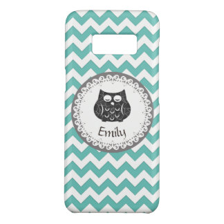Cute Trendy fancy girly  owl chevron personalized Case-Mate Samsung Galaxy S8 Case