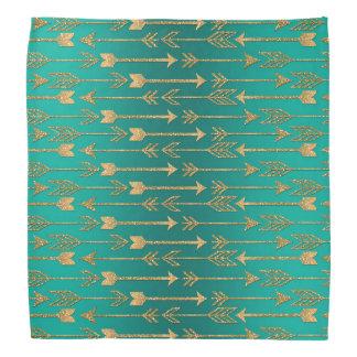 Cute trendy faux gold glitter tribal arrows do-rags