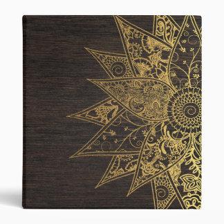 Cute trendy flower henna hand drawn design vinyl binders