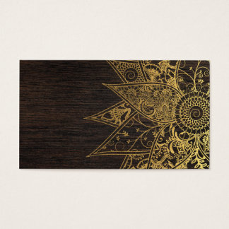 Cute trendy flower henna hand drawn design business card
