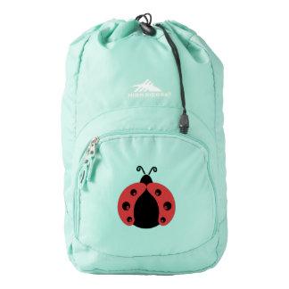 Cute trendy girly modern red ladybug backpack