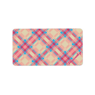 Cute trendy girly plaid pattern fabric effects