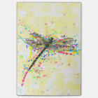 Cute trendy girly watercolor splatters dragonfly post-it notes