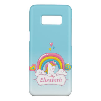 Cute Trendy  Magical Unicorn Custom  gradient blue Case-Mate Samsung Galaxy S8 Case