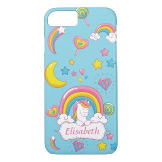 Cute Trendy  Magical Unicorn Custom name iPhone 8/7 Case