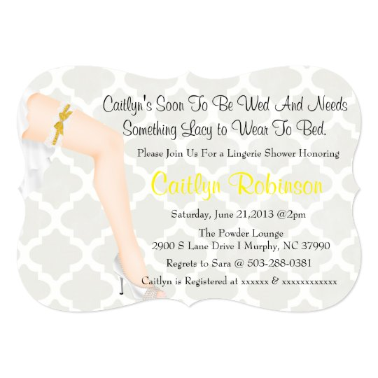 Cute Trendy Pin Up Bridal Lingerie Shower Invite