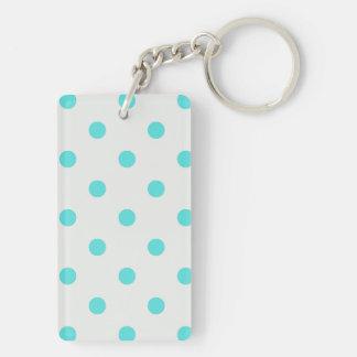 Cute Trendy Polka Dots Double-Sided Rectangular Acrylic Keychain