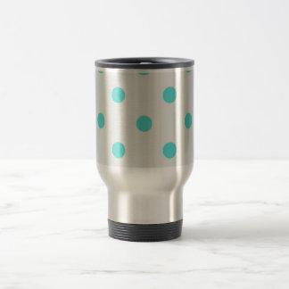 Cute Trendy Polka Dots Travel Mug