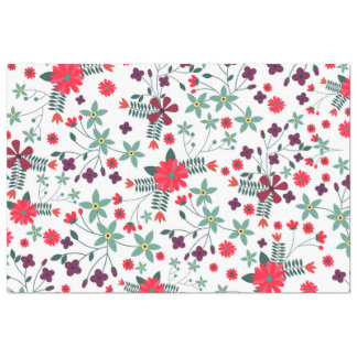 Cute trendy romantic floral pattern tissue paper