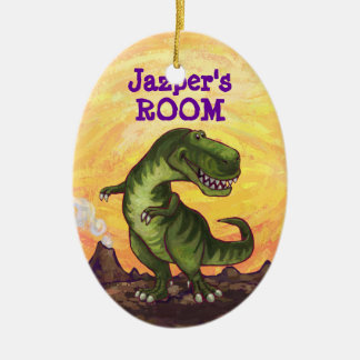 Cute TRex Heads and Tails Personal Room Decor Ceramic Ornament