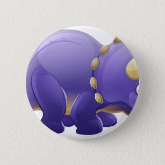 Cute Triceratops Cartoon Dinosaur 2 Inch Round Button