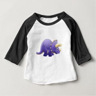 Cute Triceratops Cartoon Dinosaur Baby T-Shirt